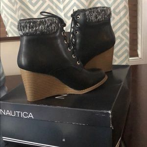 5eb86943acf8 Nautica Ankle Bootie with Sweater Collar